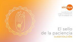 El sello de la paciencia Shuni Mudra